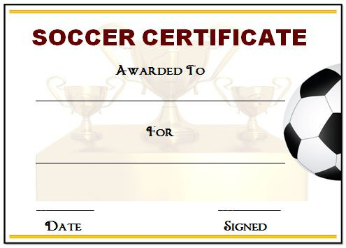 30 Soccer Award Certificate Templates - Free To Download With Regard To Soccer Achievement Certificate Template