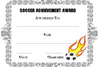 30 Soccer Award Certificate Templates – Free To Download with regard to Unique Soccer Achievement Certificate Template