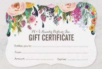 31+ Hair Salon Gift Voucher Templates – Free & Premium Psd in Fresh Free Printable Beauty Salon Gift Certificate Templates