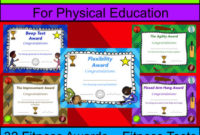 32 Fitness Awards – Physical Education Certificates (Editable) with Unique Physical Fitness Certificate Template Editable