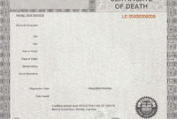 37 Blank Death Certificate Templates [100% Free] ᐅ Templatelab throughout Blank Death Certificate Template 7 Documents