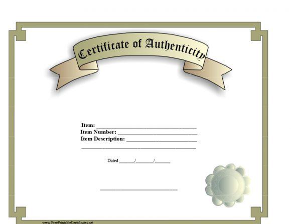 37 Certificate Of Authenticity Templates (Art, Car Intended For Unique Certificate Of Authenticity Free Template