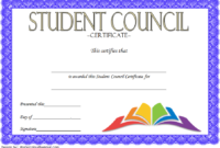 3Rd Student Council Award Certificate Template Free In 2020 within Student Council Certificate Template