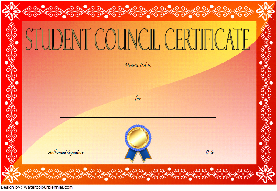 3Rd Student Council Certificate Template Free In 2020 In Student Council Certificate Template Free