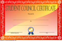 3Rd Student Council Certificate Template Free In 2020 inside Best Student Council Certificate Template