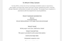 4 Certificate Templates For Completion Of A Project | Word pertaining to Fresh Certificate Of Construction Completion