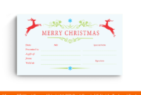 40+ Best Gift Certificate Templates For This Christmas (Ms Word) in Best Merry Christmas Gift Certificate Templates
