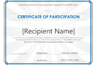 40+ Certificate Of Participation Templates – Printable Templates within Certificate Of Participation Template Doc 10 Ideas