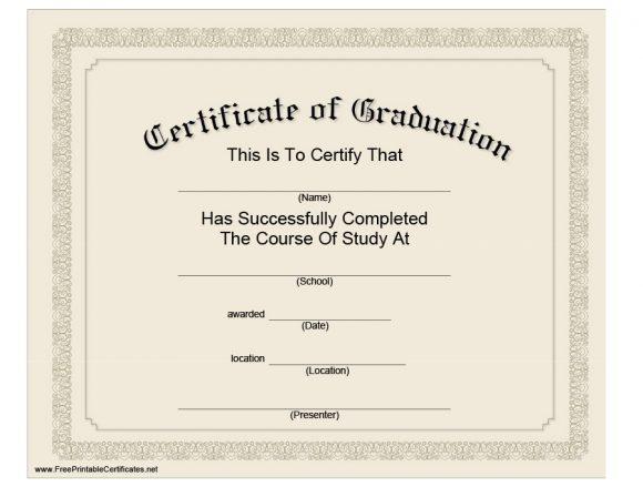 40+ Graduation Certificate Templates & Diplomas - Printable In Best Diploma Certificate Template Free Download 7 Ideas