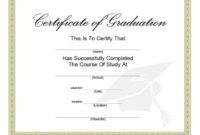 40+ Graduation Certificate Templates & Diplomas – Printable pertaining to Free Printable Certificate Of Promotion 12 Designs