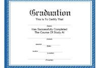 40+ Graduation Certificate Templates & Diplomas – Printable within Best Diploma Certificate Template Free Download 7 Ideas