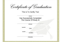 40+ Graduation Certificate Templates & Diplomas – Printable within Certificate Of School Promotion 10 Template Ideas