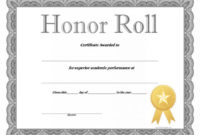 40+ Honor Roll Certificate Templates & Awards – Printable for Editable Honor Roll Certificate Templates