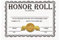 40+ Honor Roll Certificate Templates & Awards – Printable intended for Best Editable Honor Roll Certificate Templates