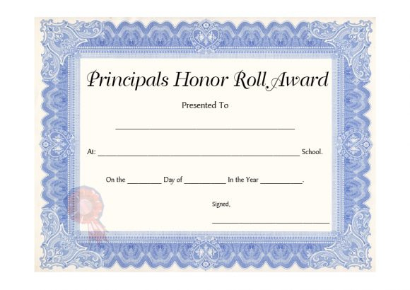 40+ Honor Roll Certificate Templates & Awards - Printable Pertaining To Best Honor Roll Certificate Template Free 7 Ideas