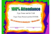 40 Printable Perfect Attendance Award Templates & Ideas inside Fresh Perfect Attendance Certificate Template Editable