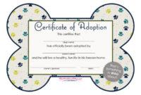 40+ Real & Fake Adoption Certificate Templates – Printable for Cat Adoption Certificate Template 9 Designs