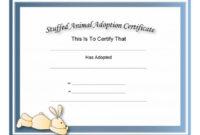 40+ Real & Fake Adoption Certificate Templates – Printable for Fresh Rabbit Adoption Certificate Template 6 Ideas Free