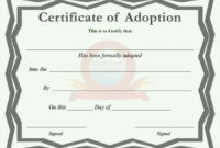 40+ Real & Fake Adoption Certificate Templates – Printable for Pet Birth Certificate Template 24 Choices