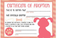 40+ Real & Fake Adoption Certificate Templates – Printable intended for Fresh Dog Adoption Certificate Template