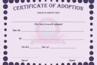 40+ Real & Fake Adoption Certificate Templates – Printable pertaining to Fresh Rabbit Adoption Certificate Template 6 Ideas Free