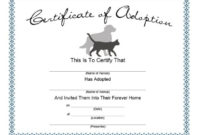 40+ Real & Fake Adoption Certificate Templates – Printable throughout Fresh Pet Birth Certificate Template 24 Choices