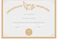 40+ Real & Fake Adoption Certificate Templates – Printable throughout Fresh Rabbit Adoption Certificate Template 6 Ideas Free