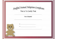40+ Real & Fake Adoption Certificate Templates – Printable with regard to Stuffed Animal Adoption Certificate Template Free