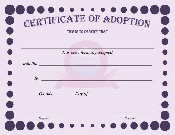 40+ Real & Fake Adoption Certificate Templates - Printable With Unique Child Adoption Certificate Template Editable