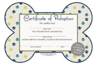 40+ Real & Fake Adoption Certificate Templates – Printable within Pet Birth Certificate Template 24 Choices