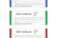41 Free Gift Certificate Templates In Ms Word And In Pdf Format intended for Fresh Free 10 Fitness Gift Certificate Template Ideas