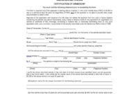 47 Certificate Of Ownership Templates [Instant Download] in Fresh Certificate Of Ownership Template