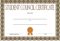 4Th Student Council Certificate Template Free In 2020 inside Student Council Certificate Template