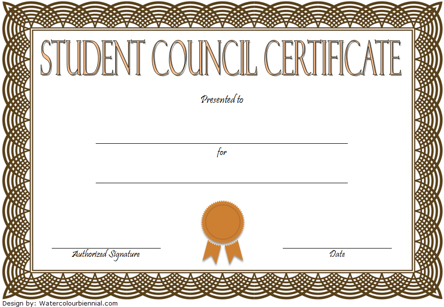4Th Student Council Certificate Template Free In 2020 Pertaining To Student Council Certificate Template Free