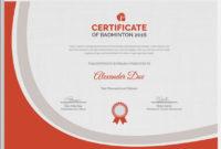 5 Badminton Certificates – Psd & Word Designs   Design within Badminton Certificate Template