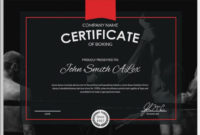 5+ Boxing Certificates – Psd & Word Designs | Design Trends with regard to Unique Boxing Certificate Template