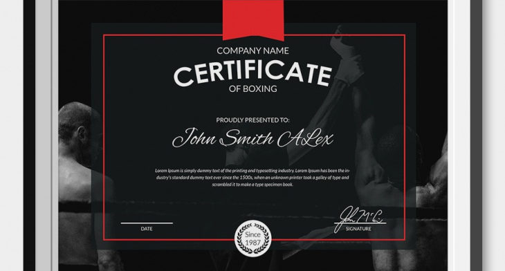 5+ Boxing Certificates - Psd & Word Designs | Design Trends With Regard To Unique Boxing Certificate Template