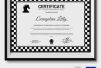 5 Chess Certificates – Psd & Word Designs   Design Trends intended for Best Chess Tournament Certificate Template Free 8 Ideas