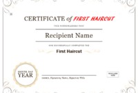 5+ Free Printable First Haircut Certificate Templates – Blue pertaining to Fresh First Haircut Certificate Printable Free 9 Designs