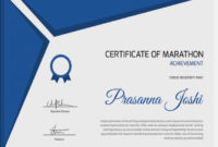 5+ Marathon Certificates – Psd & Word Designs | Design regarding Marathon Certificate Templates