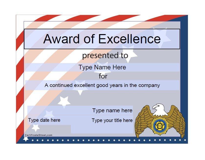 50 Free Amazing Award Certificate Templates - Free Template In Best Donation Certificate Template Free 14 Awards