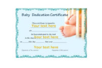 50 Free Baby Dedication Certificate Templates – Printable intended for Unique Free Fillable Baby Dedication Certificate Download
