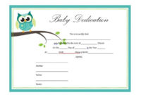 50 Free Baby Dedication Certificate Templates – Printable pertaining to Certificate For Best Dad 9 Best Template Choices