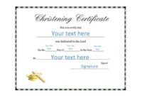 50 Free Baby Dedication Certificate Templates – Printable pertaining to Unique Free Fillable Baby Dedication Certificate Download