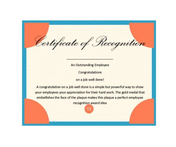 50 Free Certificate Of Recognition Templates - Printable Inside Certificate Of Job Promotion Template 7 Ideas