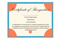 50 Free Certificate Of Recognition Templates – Printable regarding Downloadable Certificate Of Recognition Templates