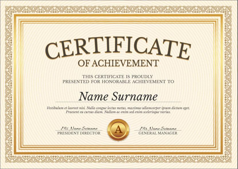 50 Free Creative Blank Certificate Templates In Psd With Best Boyfriend Certificate Template