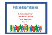 50 Free Volunteering Certificates – Printable Templates regarding Fresh Outstanding Volunteer Certificate Template
