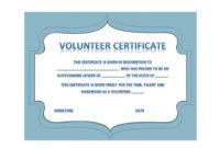 50 Free Volunteering Certificates – Printable Templates with regard to Fresh Outstanding Volunteer Certificate Template