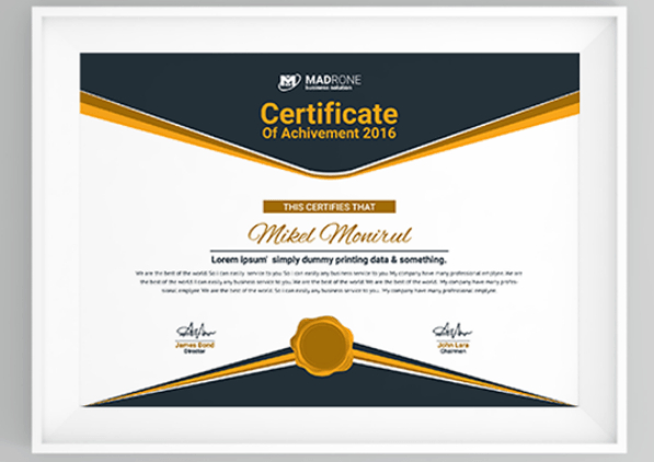 50 Multipurpose Certificate Templates And Award Designs For Throughout Free 6 Printable Science Certificate Templates